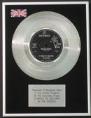 "THE SEEKERS - 7"" Platinum Disc - THE WORLD OF OUR OWN"